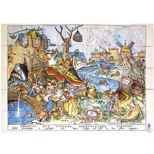 Seven Deadly sins, de Peter Brueghel - Gula - Gluttony Great representation by Talaveradelaluz.com