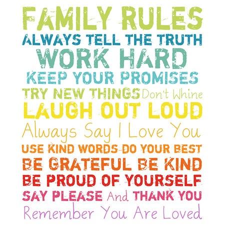 Family Rules Wall Décor