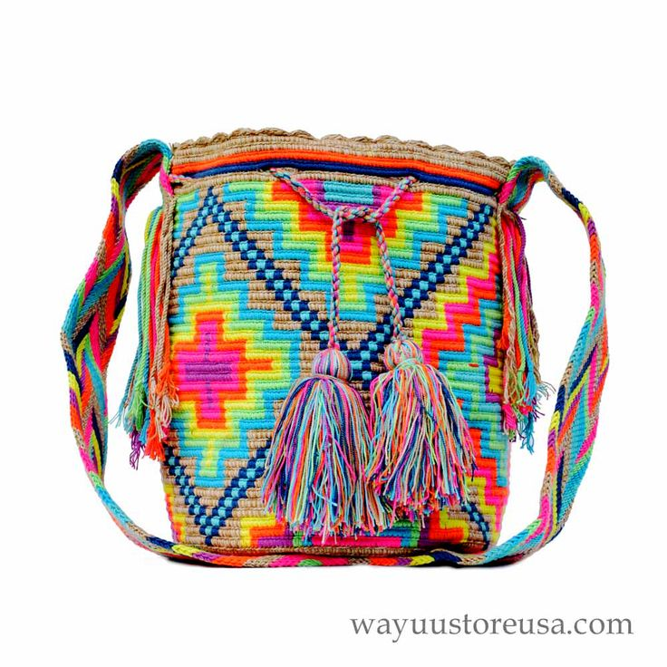 Check out the deal on Wayuu Mochila - New Colors and Design - Large - Handmade - 322 at wayuustoreusa.com