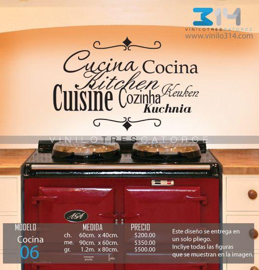 16 best images about vinilos pra cocina on pinterest 14 - Pegatinas pared frases ...
