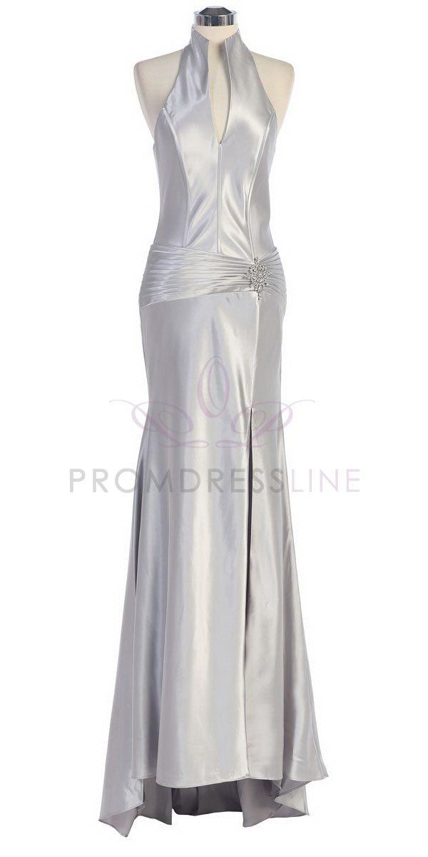 17 best images about brides maids on pinterest satin for Silver satin wedding dress