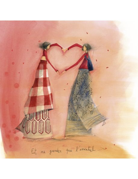 "Anne-Sophie Rutsaert carte postale ""Les bras en coeur"""