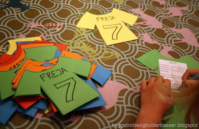 soccer / football party invites-or decorate your own jersey craft for the kids