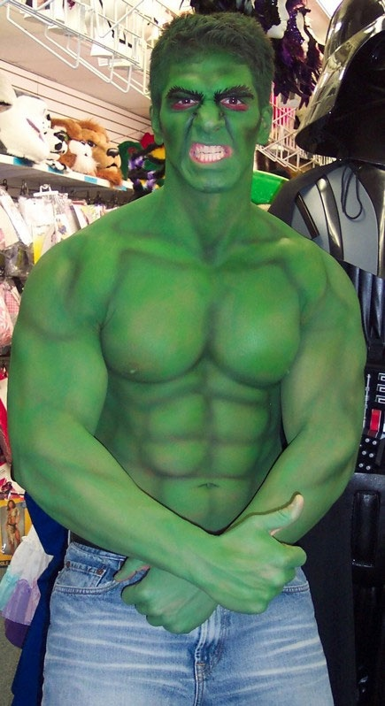 Hulk #bodypaint #makeup