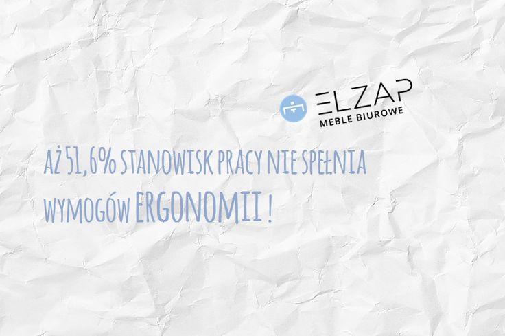 Jeśli i Twoje stanowisko pracy nie spełnia zasad ergonomii ➡️ z Elzapem możesz to zmienić! 👌👍  #elzap #ergonomia #meble #miejscepracy #ciekawostka