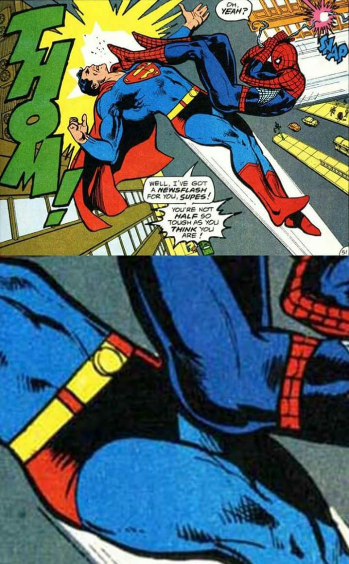 Spiderman vs Superman is not about physical strength