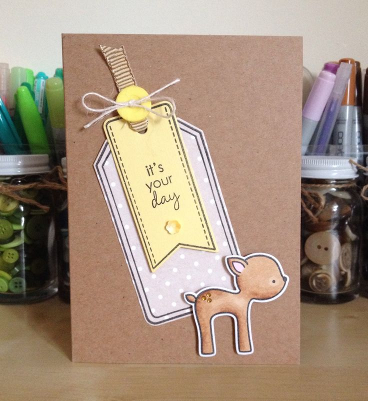Birthday lawn fawn card