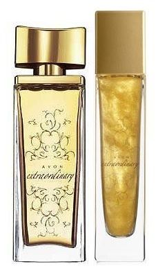 Avon Extraordinary EDT and glitter body gel spray