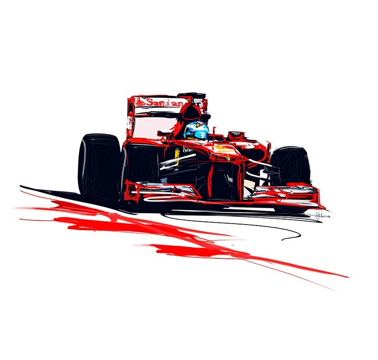 Automotive Art Illustrations, Racing Art