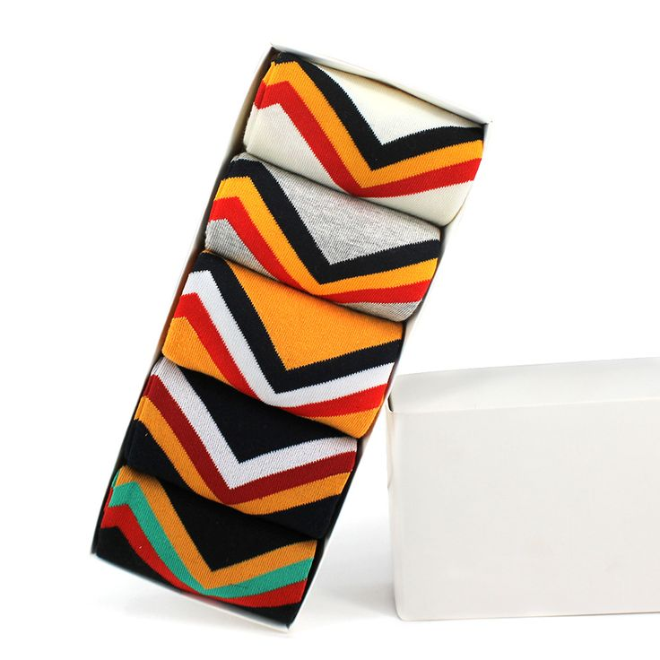 Kha Zix Pack of 5 Pairs Mens Printed Socks Stan Socks Crazy Socks Warm Winter Sock 30016
