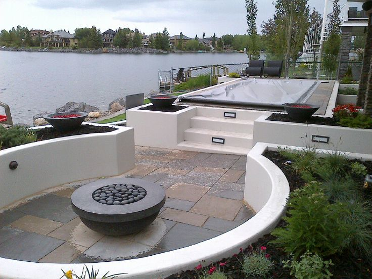#fire #backyard #firepit #landscaping #yyc #outdoors www.anandalandscapes.com