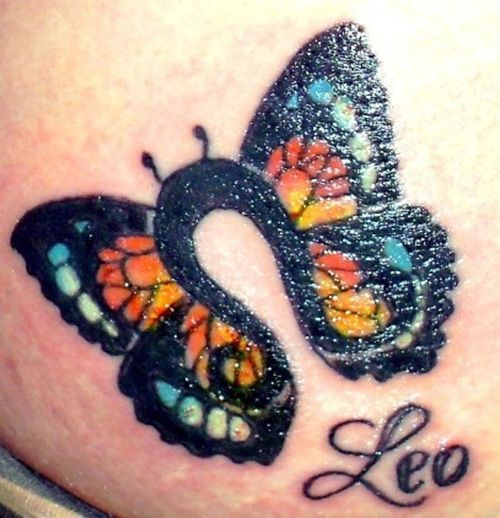 36 Best Leo Butterfly Tattoo Images On Pinterest