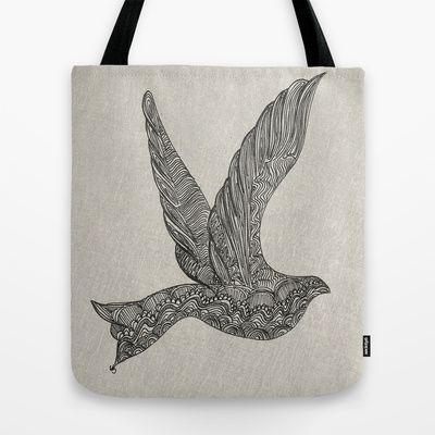 Dove illustration Tote Bag by clickybird - Belinda Gillies - $22.00