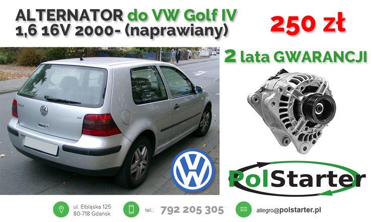 ⚫ Golf IV to bardzo popularny model na rynku samochodów używanych. W naszej ofercie znajdziesz do niego alternator w najlepszej cenie! 🚗🚕🚙🚌🏎🚓🚑🚒🚐🚚🚜🚖🚘🚍🚔  ⚫ KONTAKT: 📲 792 205 305 ✉ allegro@polstarter.pl  #alternator #volkswagengolfIV #częścisamochodowe