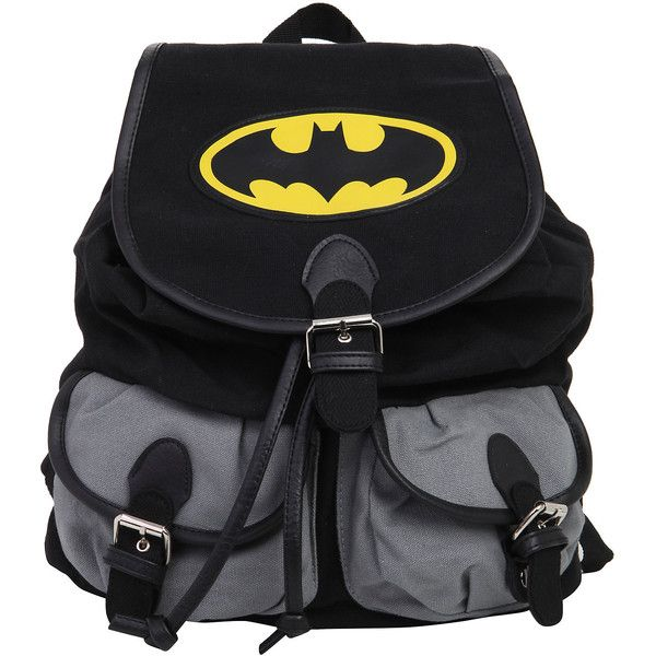 DC Comics Batman Medium Slouch Backpack Hot Topic ($15) ❤ liked on Polyvore featuring bags, backpacks, knapsack bags, slouchy backpack, slouch bag, slouchy bag and rucksack bag