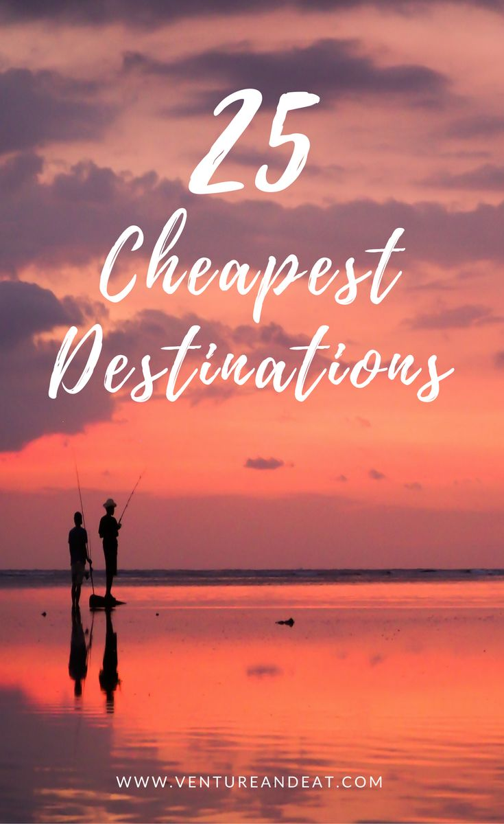 Budget Travel | Cheap Destinations | Cheapest Travel Destinations | Can't decide where to go next, but on a budget? Don't worry. I've compiled 25 of the cheapest destinations that won't break the bank. These destinations are $40 a day or less and include a few surprise cities!