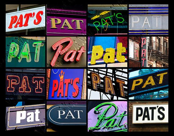 Personalized Poster featuring the name PAT showcased in signs!  #pat #patrick #poster #names #signs #personalized #wallart #etsy