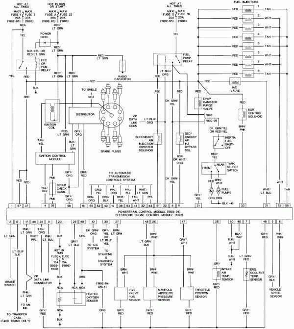 1996 Ford F150 Engine Wiring Diagram and F Ecm Wiring