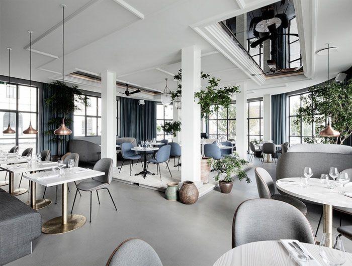 Modernes nordisches Restaurant-Dekor