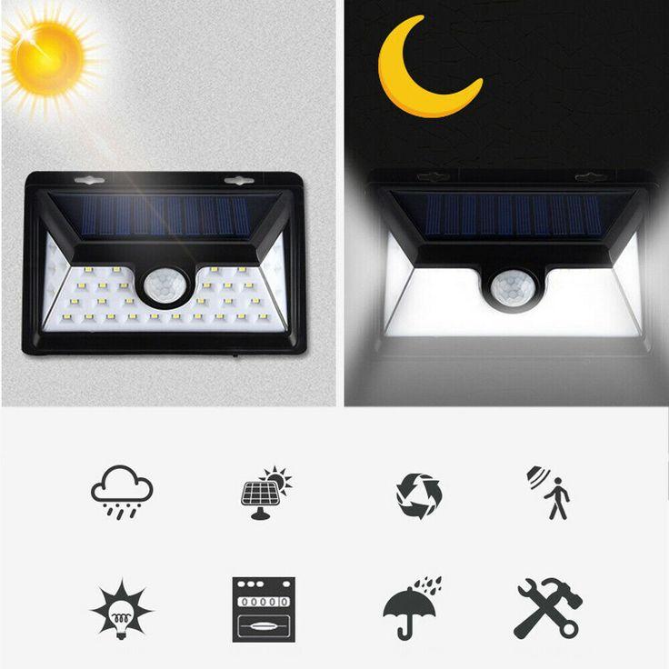 Ebay Sponsored Solarleuchte 34leds Solarlampe Bewegungsmelder Aussen Fluter Sensor Strahler Hs Solarleuchten Solarlampe Bewegungsmelder Aussen