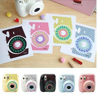Cute Floral Stickers Decoration Polaroid Fuji Film Instax Mini 8 Camera Fujifilm