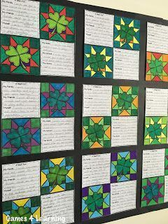 Make a St. Patrick's Day Quilt Display with their writing. 7 Writing Prompts to choose from. Happy St. Patrick's Day