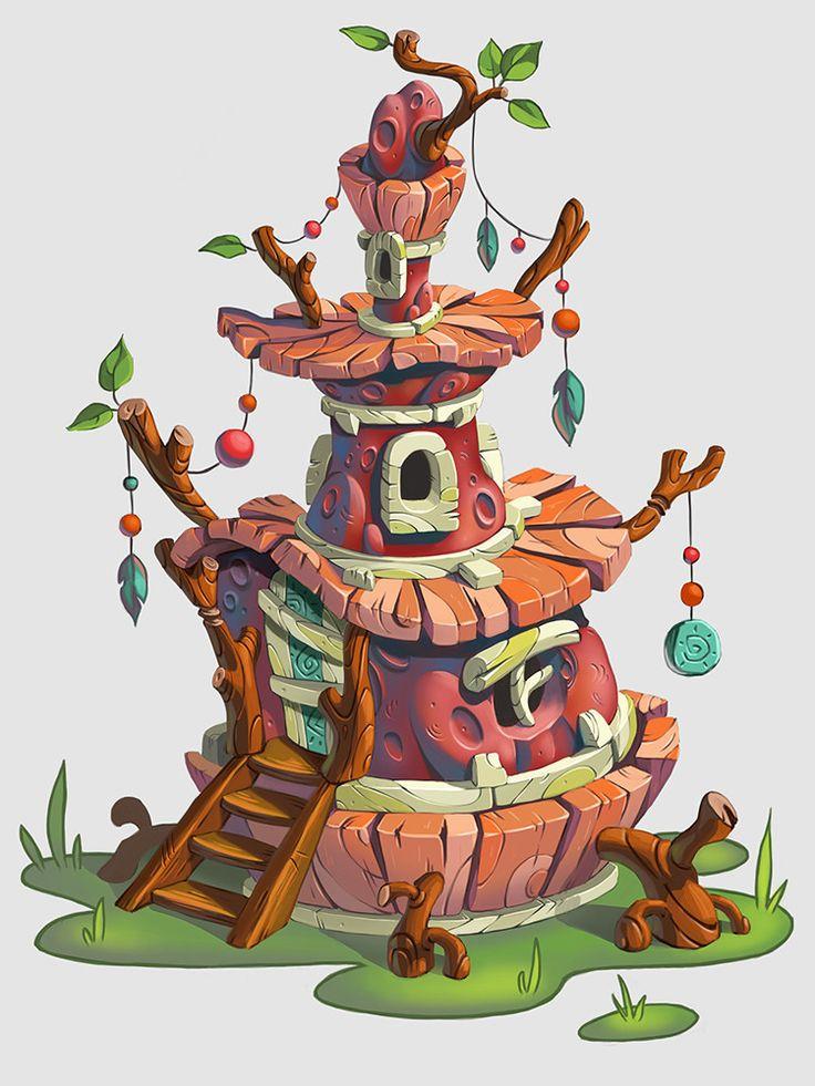 wooden house, Inna Stefanova on ArtStation at https://www.artstation.com/artwork/ZdY4x