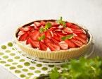 Jordbærtærte med vanillemousse
