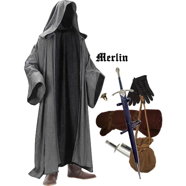 """Merlin Cloak"" by medievalmadness on Polyvore"