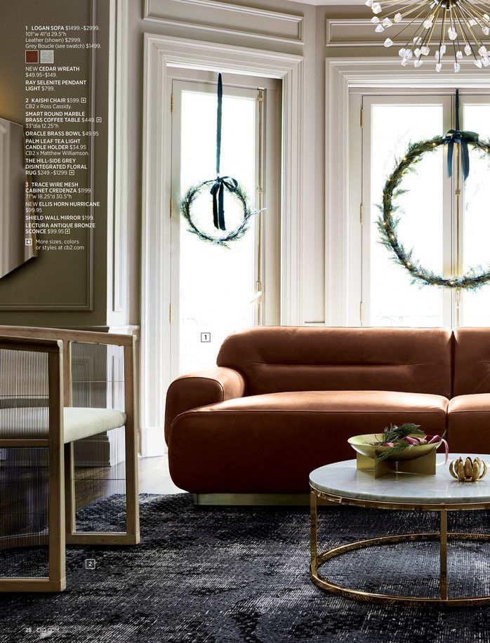 Cb2 November Catalog 2018 Page 28 29 Holiday Furniture Brass Coffee Table Bedroom Decor