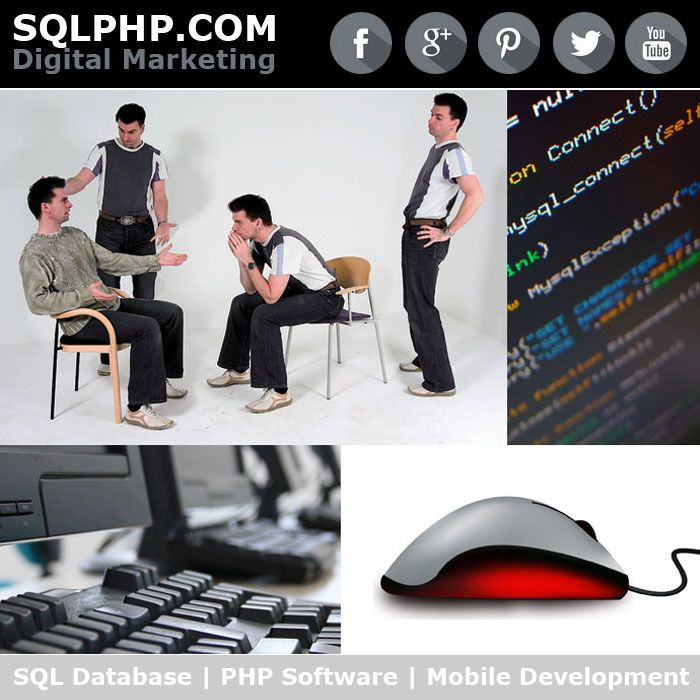 Digital Marketing Werbung SQLPHP.COM - SQL Database | PHP Software | Mobile Development | Software Projekt Management | Copenhagen Denmark