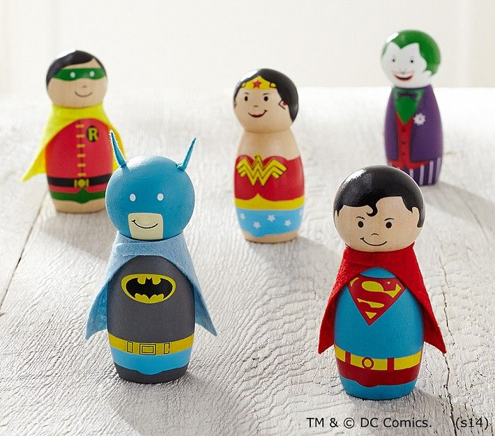 Love these vintage inspired figurines of our favorite DC comic characters!