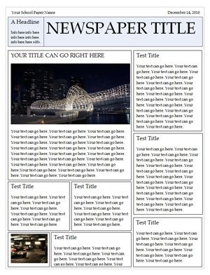 17 best images about book reports on pinterest biography for Free printable newspaper template for students