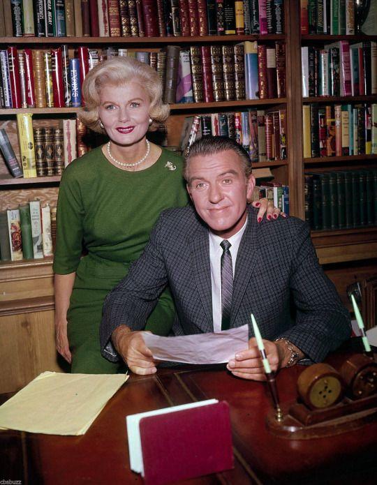Barbara Billingsley and Hugh Beaumont, Leave it to Beaver, circa 1961.