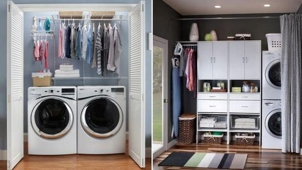 There are a number of clever ways to conceal your laundry.