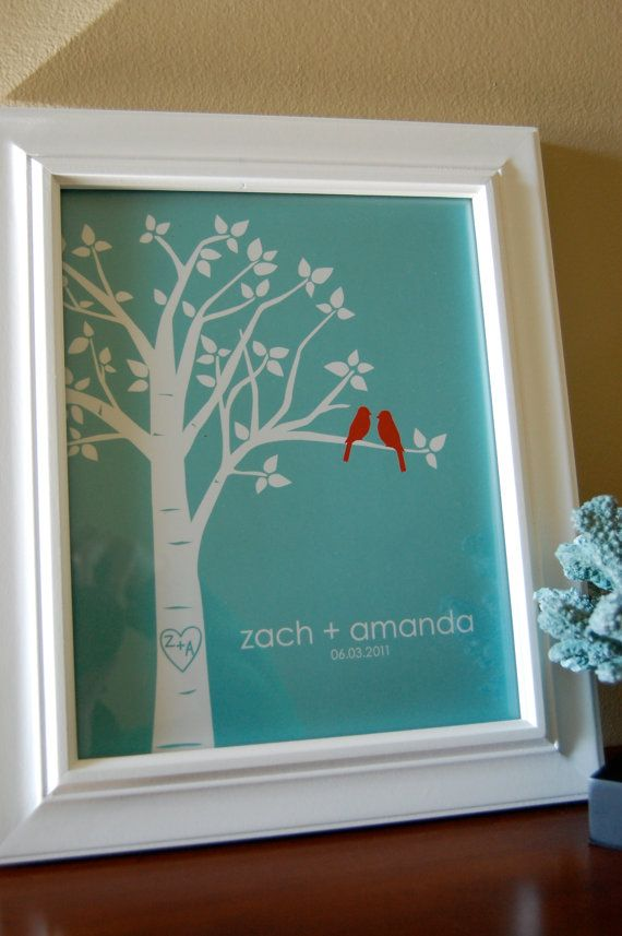 Valentine 39 s day gift personalized custom love birds family for Family tree gifts personalized