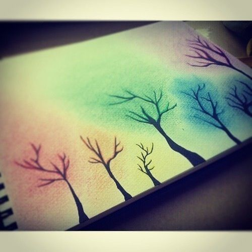 Colorful Simple And So Beautiful I Call It Four Seasons Trees