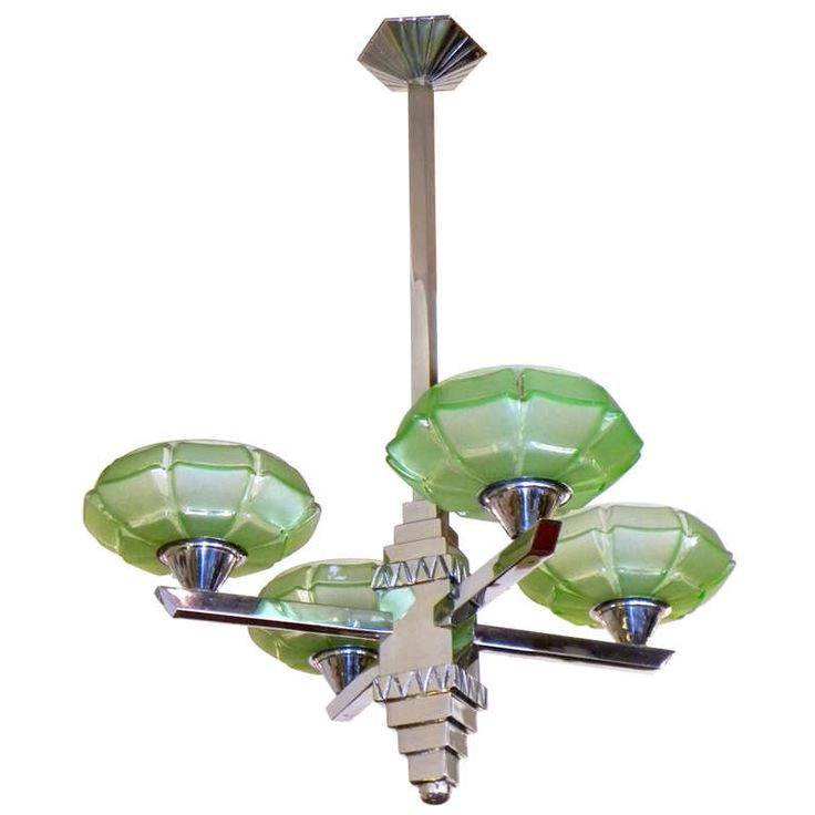Art Deco Streamline Modernist Chandelier stunning glass | From a unique collection of antique and modern chandeliers and pendants  at https://www.1stdibs.com/furniture/lighting/chandeliers-pendant-lights/