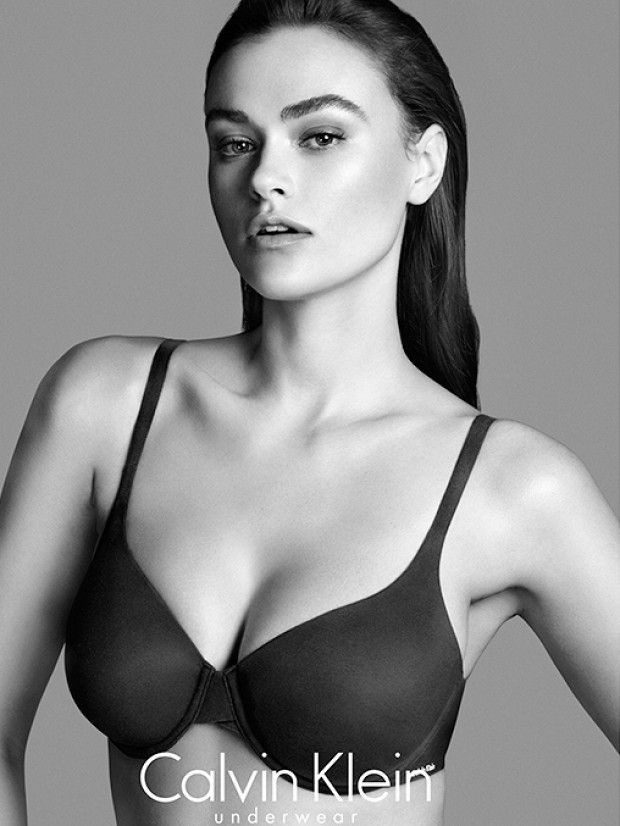 Model Myla Dalbesio for Calvin Klein's Perfectly Fit campaign