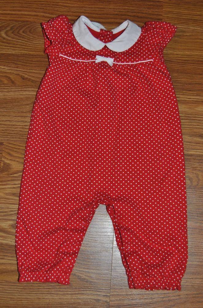 8b4d96cd4da Gymboree 6-12 months girls romper outfit red white polka dot spring summer  winte