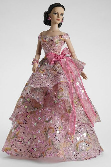 fashion doll, pink dress