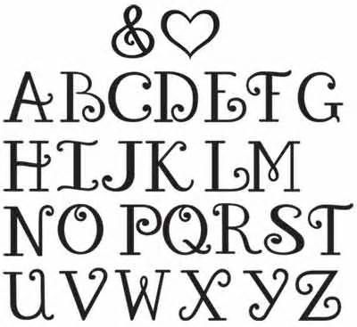 different ways to write the alphabet - Yahoo Image Search Results
