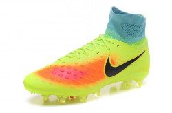 a6962b501 Free Shipping Nike Magista Obra II FG Yellow Orange Black Men s Football  Shoes