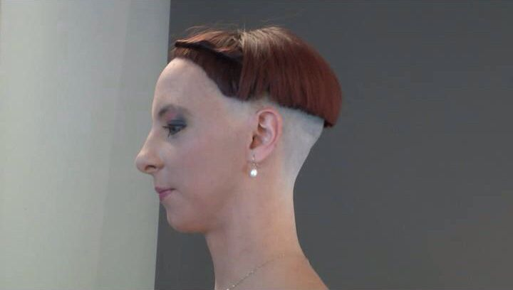 Highly Shaved Nape With Bowl Cut Amazing Side Cuts