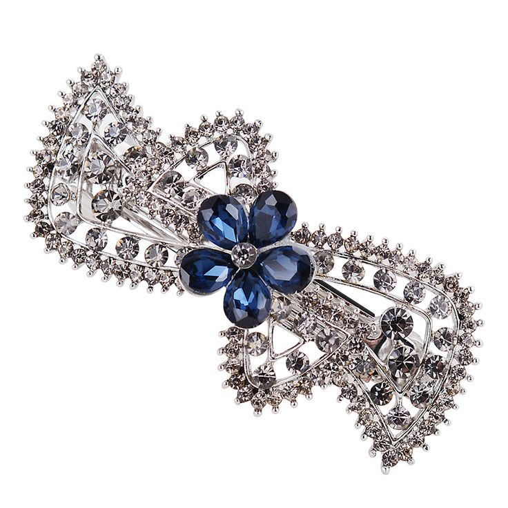 Винтажный стиль хрустальный цветок заколки для волос пистолет черный покрыло ювелирные изделия волос свадебные аксессуары для волос, заколки для девочки подарок на день рождения
