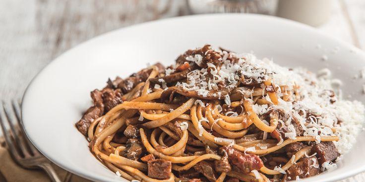 Bolognese Style Mushroom Ragu via @iquitsugar