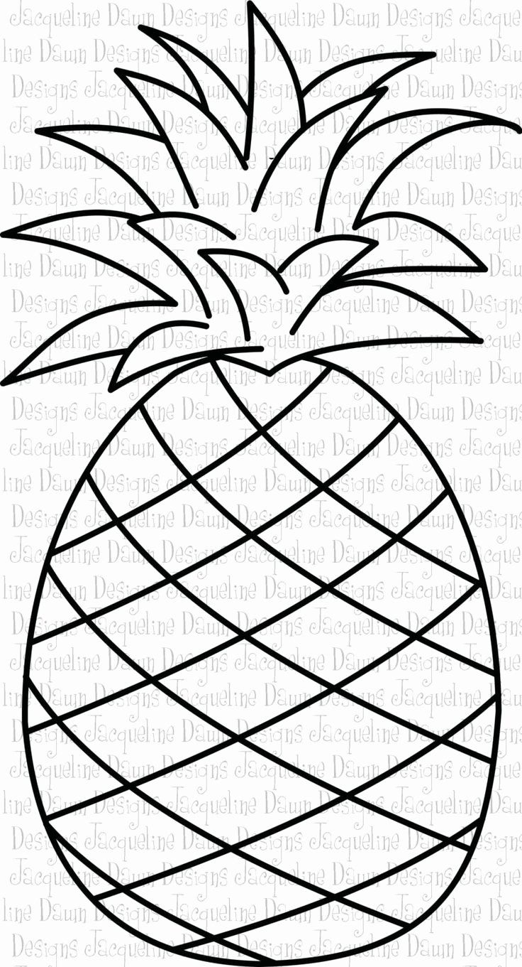 Cute Pineapple Coloring Page Awesome Pineapple Clipart Black And