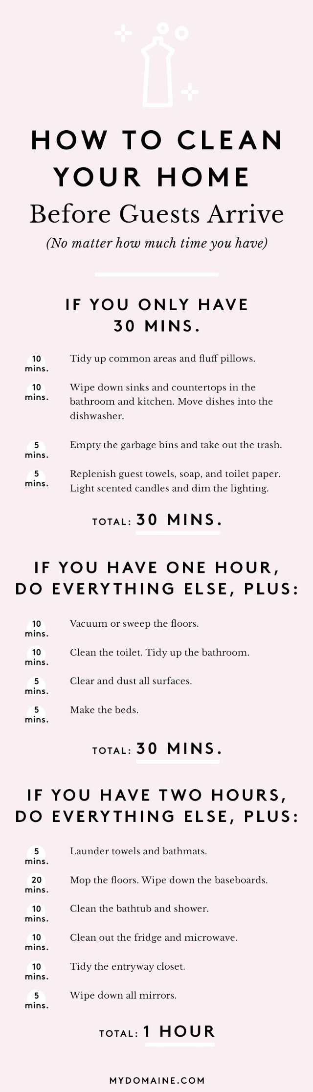 The Ultimate Guide to Cleaning Your Home in an Hour | MyDomaine