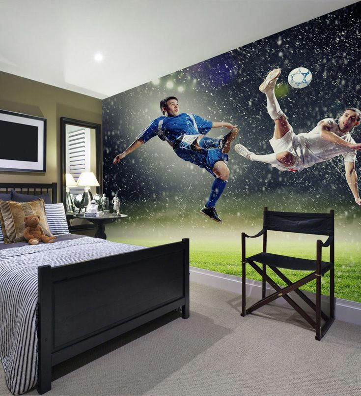 Made To Measure Football Wallpaper Mural Perfect For Boys Bedrooms Find The Full Collection Of Football W Boys Bedrooms Soccer Themed Bedroom Football Bedroom