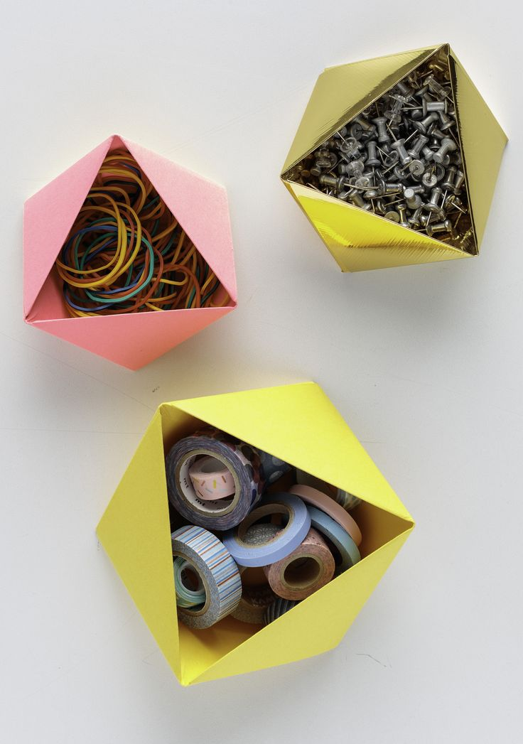 Create a small container with just one sheet of cardstock. Behold the powers of paper-folding! #MarthaStewartCrafts